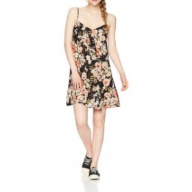 billabong ビラボン ファッション ドレス Billabong NEW Black Womens Size Small S Floral V-Neck Sheath Dress