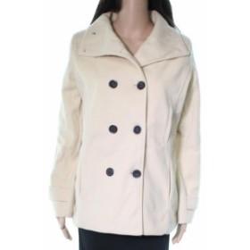 ファッション 衣類 Meaonor NEW Ivory Double Breasted Fleece Womens Size Small S Peacoat