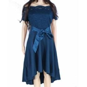 ファッション ドレス Designer Brand Womens A-Line Dress Green Size XL Off-Shoulder Lace