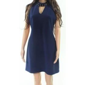 taylor テイラー ファッション ドレス Taylor NEW Navy Blue Womens Size 6 Embellished V-Neck Sheath Dress
