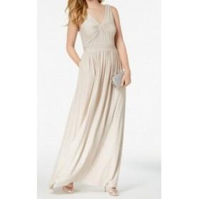 Adrianna Papell アドリアーナ パペル ファッション ドレス Adrianna Papell Womens Dress Pink Size 2 Sheath Twist-Knot Metallic