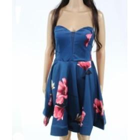 ファッション ドレス Designer Brand Womens Blue Size Large L Fit N Flare Sheath Dress