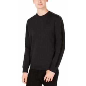 Calvin Klein カルバンクライン ファッション トップス Calvin Klein Sweater Black Size 2XL Pullover Velvet Striped Crewneck