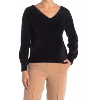 ファッション トップス Catherine Malandrino NEW Black Womens Small S Fuzzy Pullover Sweater