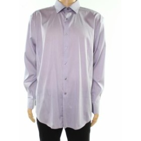 Alfani  ファッション ドレス Alfani NEW Gray Mens Size 17 1/2 Stripe Print Atletic Fit Dress Shirt