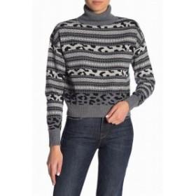 ファッション トップス John + Jenn NEW Black Womens Size Small S Fair Isle Turtleneck Sweater