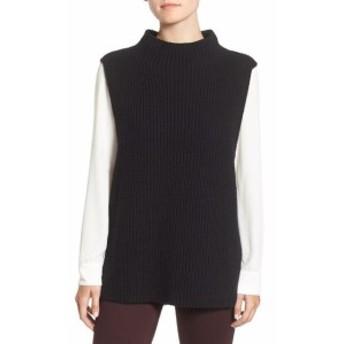 ファッション トップス Trouve NEW Black Womens Size XS Sleeveless Knitted Vest Sweater