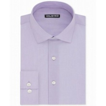 Kenneth Cole ケネスコール ファッション ドレス Kenneth Cole NEW Purple Mens Size 17 1/2 Solid Slim Fit Dress Shirt