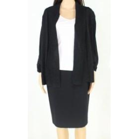 ファッション トップス United States Sweaters Womens Black Size Large L Open Front Cardigan