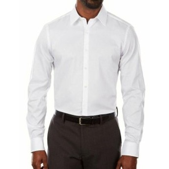 ファッション ドレス Van Heusen NEW Bright White Mens Size 16 Stretch Slim Fit Dress Shirt