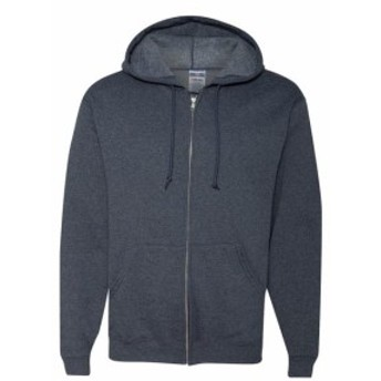 ファッション トップス Jerzees Mens 8 oz. 50/50 Fleece Full Zip Hood 993 S-3XL