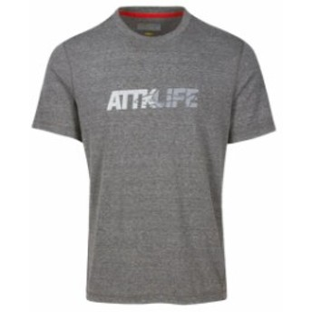 スポーツ用品 ゴルフ Greg Norman Attack Life Reflective Graphic Short Sleeve T-Shirt - Grey - M