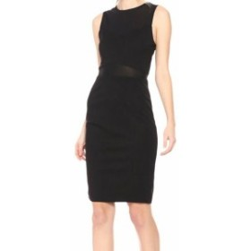 Ali & Jay アリ&ジェイ ファッション ドレス Ali & Jay Womens Black Size Small S Ponte Knit Illusion Sheath Dress