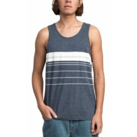 RVCA ルーカ ファッション アウター RVCA Mens Shirt Speck Blue White Size Large L Chest Striped Tank
