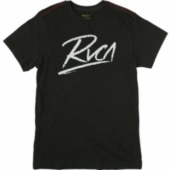RVCA ルーカ ファッション トップス RVCA Scribe Vintage Wash Slim Fit Cotton Blend T-Shirt - Black