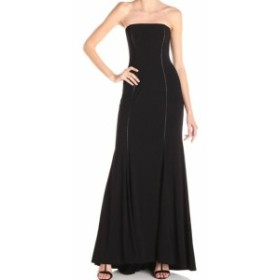 Adrianna Papell アドリアーナ パペル ファッション ドレス Adrianna Papell NEW Black Strapless Cut Out Jersey Womens Size 2 Gown
