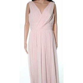 Dessy Collection ドレッシーコレクション ファッション ドレス Dessy Collection NEW Beige Cameo Pleated Chiffon Womens Size 12 Gown