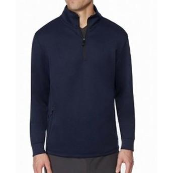 ファッション トップス 32 Degrees NEW Navy Blue Mens Size Medium M Mock-Neck Fleece Jacket