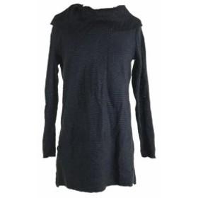 Alfani  ファッション トップス Alfani New Black Long-Sleeve Metallic Tunic Sweater S