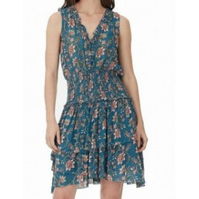 William Rast ウィリアムラスト ファッション ドレス William Rast NEW Blue Womens Size XL Clarissa Print Tiered Sheath Dress