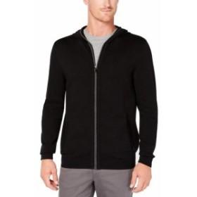 ファッション トップス Tasso Elba NEW Black Gray Mens Size 3XL Full-Zip Hooded Sweater