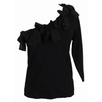 ファッション トップス Inc International Concepts Dark Black one-shoulder tie jersey