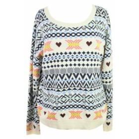 Maison  ファッション トップス Maison Jules New White Multi Long-Sleeve Fair Isle Sweater XL