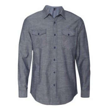 ファッション トップス Burnside Mens Chambray Woven Shirt B8255 S-3XL