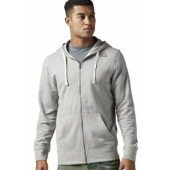 Reebok リーボック ファッション トップス [BS2652] New Mens REEBOK US Elements French Terry Full Zip Hoodie - Grey