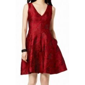 Betsey Johnson ベッツィージョンソン ファッション ドレス Betsey Johnson NEW Red Womens Size 4 Jacquard Fit Flare A-Line Dress