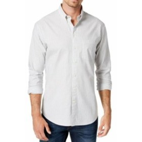 DKNY ダナキャランニューヨーク ファッション アウター DKNY NEW White Mens Size 2XL Button Down Stripe Woven Pocket Shirt