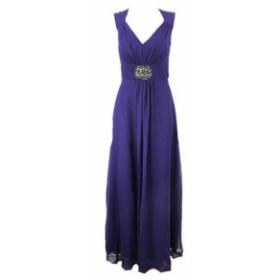 ファッション ドレス Decode 1.8 Blue Sleeveless Ruched-Waist Embellished Gown 4
