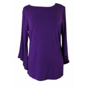 ファッション トップス Inc International Concepts Vivid Purple Textured Cross Jumper M