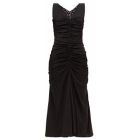 ドルチェandガッバーナ Dolce and Gabbana レディース ワンピース ワンピース・ドレス ruched-front silk-blend dress Black
