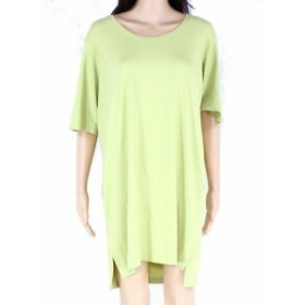 Eileen Fisher アイリーンフィッシャー ファッション ドレス Eileen Fisher Womens Dress Green Size Small S T-Shirt Scoop Neck