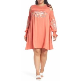 GLAMOROUS グラマラス ファッション ドレス Glamorous NEW Pink Womens Size 18 Embroidered Cold-Shoulder Shift Dress