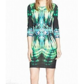 Roberto Cavalli ロベルトカバリ ファッション ドレス Roberto Cavalli Womens Dress Green Size Large L EU 44 Kaleidoscope