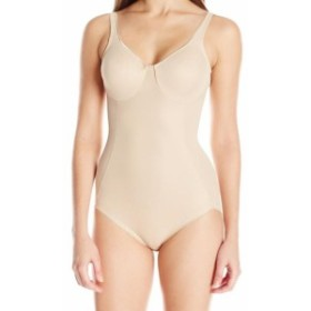 Nicole ニコール スポーツ用品 フィットネス Naomi & Nicole Womens Shapewear Beige Size 36C Body Briefer Suits