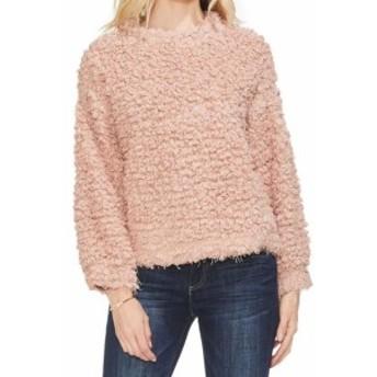Vince ヴィンス ファッション トップス Vince Camuto Womens Blush Pink Size Medium M Crewneck Shaggy Sweater