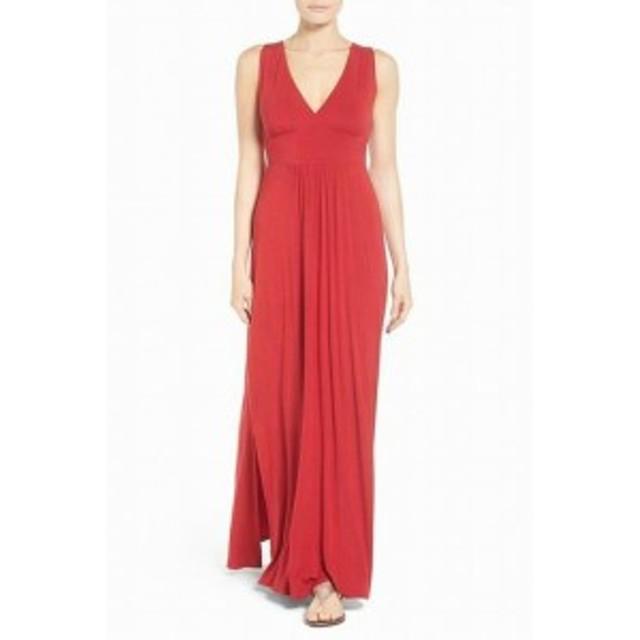 Maxi  ファッション ドレス CASLON Womens Surplice Knit Sleeveless Red Size XXL Maxi Dress