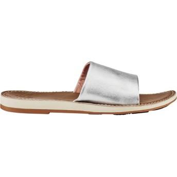 [オルカイ] シューズ サンダル Nohie 'Olu Slide Silver/Tan レディース [並行輸入品]