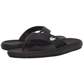 [ラコステ] レディースサンダル・靴 Croco Sandal 219 1 CFA Black/White (25cm) M [並行輸入品]