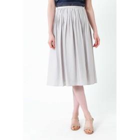 NATURAL BEAUTY ◆麻混ピンタックセットアップスカート ひざ丈スカート,ベージュ