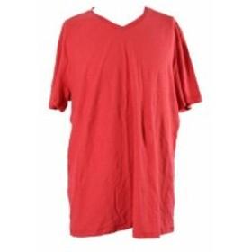 Fire ファイア ファッション トップス Kenneth Cole Reaction Fire Red Short-Sleeve V-Neck -Shirt XXL