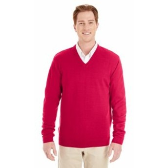 ファッション トップス Harriton Mens Pilbloc V-Neck Sweater M420 XS-4XL