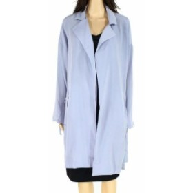 Lush ラッシュ ファッション 衣類 Lush Womens Blue Fog Size Small S Textured Tie-Sleeve Open Front Jacket