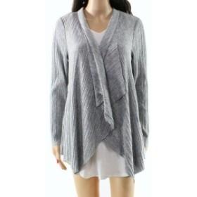 Alfani  ファッション トップス Alfani Womens Sweater Gray Size Large L Knit Cardigan Draped Front