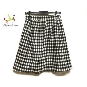 アプワイザーリッシェ スカート サイズ1 S レディース 美品 アイボリー×黒 チェック柄 新着 20190928