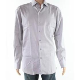 Alfani  ファッション ドレス Alfani NEW Gray Mens Size Large L One-Pocket Pinstriped Dress Shirt