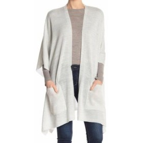 One  ファッション トップス Cejon Womens Sweater Silver Gray One Size Cardigan Shimmer Open-Front